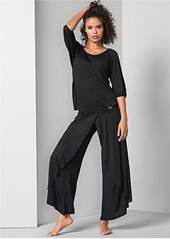 wide leg pajama set