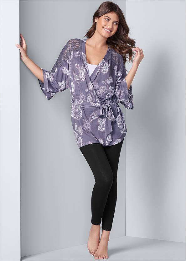 Full front view Lace Detail Robe