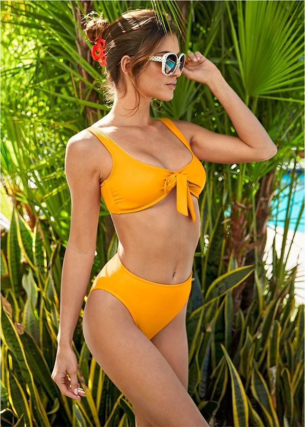 Retro Swim Bralette Top,Low Rise Bikini Bottom