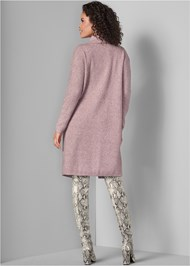 Back View Long Sweater Coat