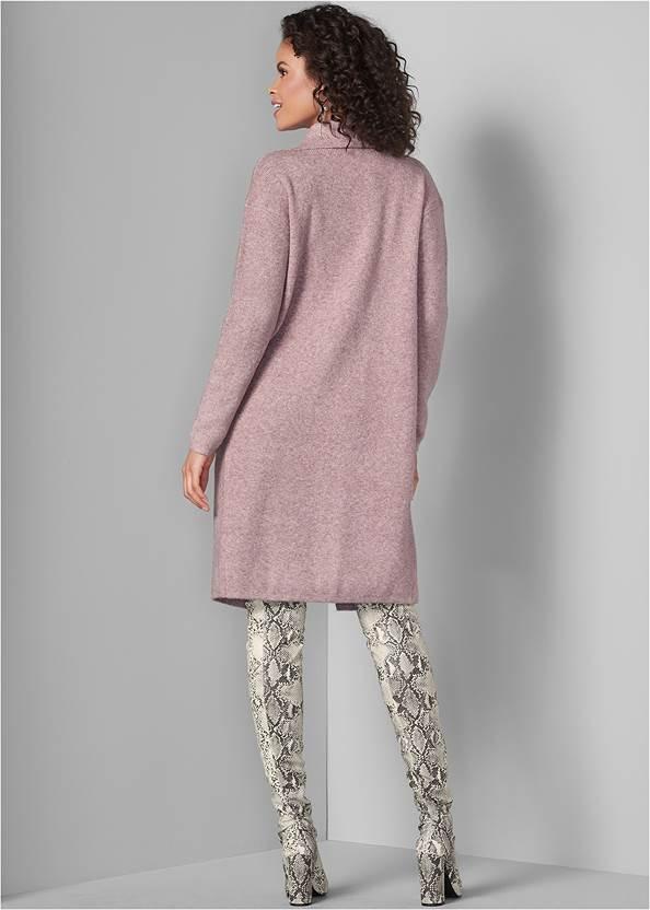 Back View Long Sweater Coat