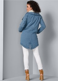 Back View Fleece Lined Denim Coat