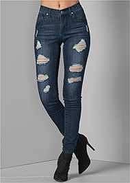 Front View Ripped Skinny Jeans