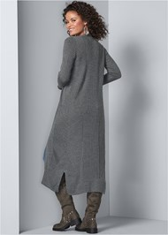 Back View Long Ribbed Duster
