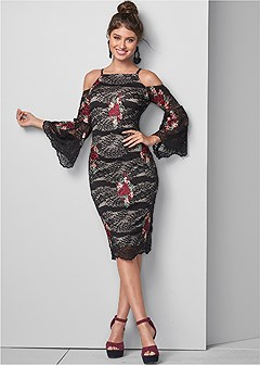 lace with appliques dress