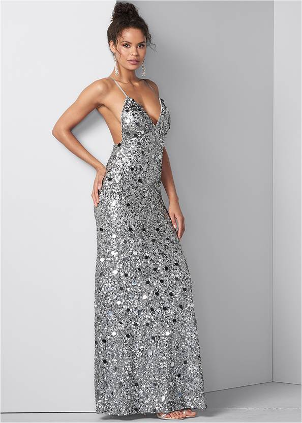 Sequin And Paillettes Gown