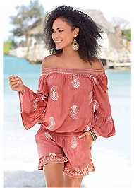 Front View Off The Shoulder Romper