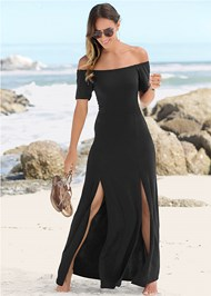 Alternate View Slit Detail Maxi Dress