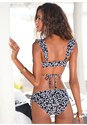 Back View Ruffled Wrap Bikini Top
