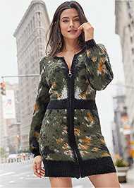 Alternate View Zip Up Sweater Dress