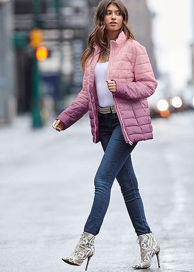 Ombre Puffer Coat