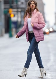 Front View Ombre Puffer Coat