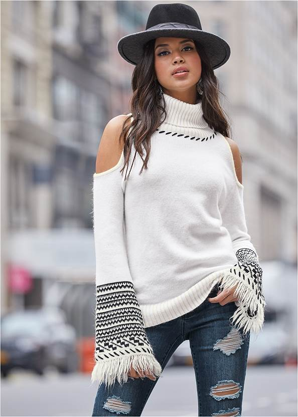 Cropped front view Color Block Hat