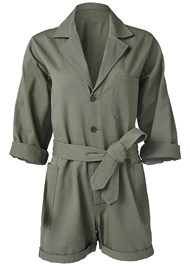 Ghost with background  view Belted Utility Romper