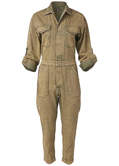 Plus Size Cuffed Boiler Jumpsuit