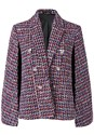 Ghost with background  view Printed Cape Blazer