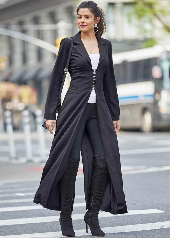 Alternate View Corset Detail Long Jacket