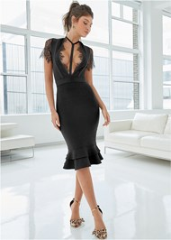 Alternate View Slimming Strappy Dress