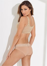 Cropped back view Mesh Inset Bra