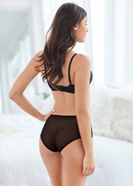 Cropped back view Unlined Geo Lace Bra