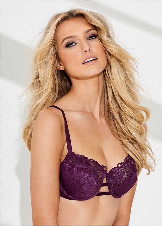 LUREX LACE DETAIL BRA,LACE THONG 3 FOR $19
