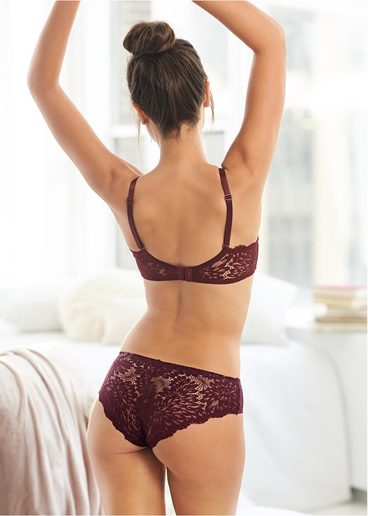 LACE BACK HIPSTER,WIRELESS PUSHUP
