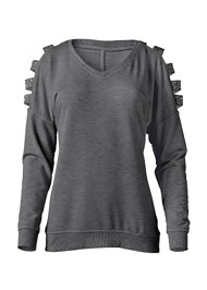 Alternate View Stud Embellished Sweatshirt