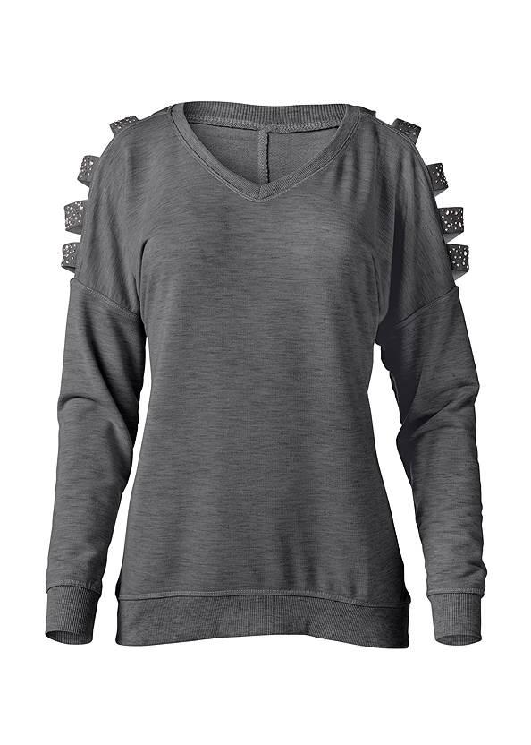 Alternate View Stud Embellished Sweatshirt