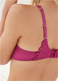 Detail back view Unlined Demi Bra