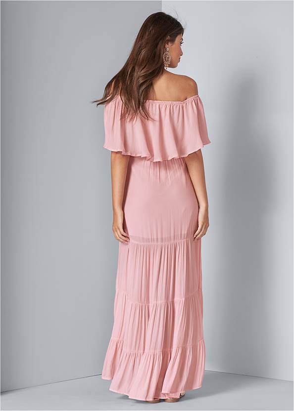 Full back view Tiered Maxi Dress