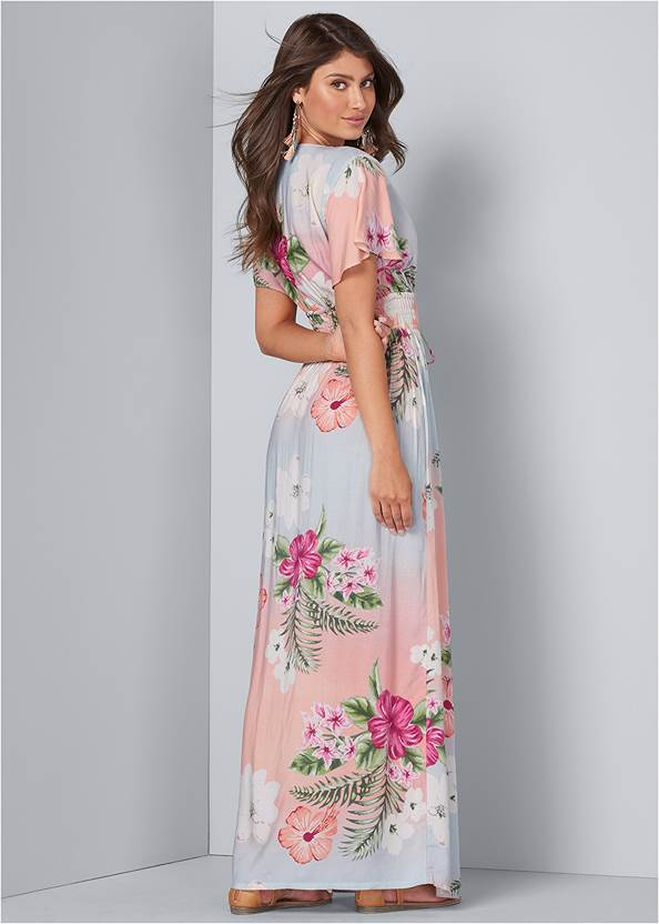 Full back view Floral Maxi Dress