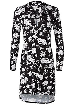 plus size floral print sleep dress