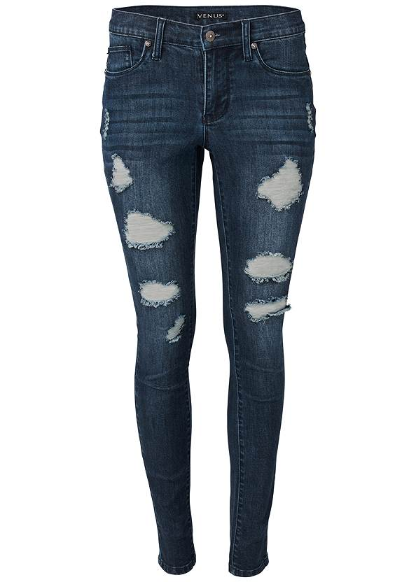 Alternate View Ripped Skinny Jeans