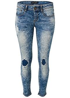 plus size acid wash jeans