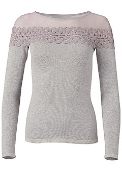 plus size ribbed detail sweater