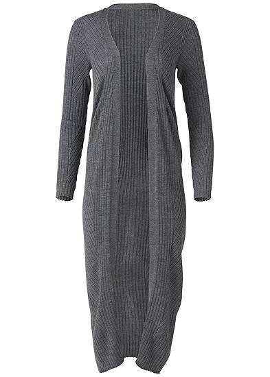 Plus Size Long Ribbed Duster