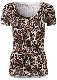 Alternate View Leopard Print Sweater