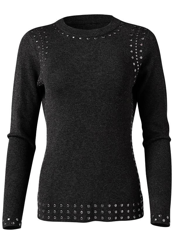 Alternate View Stud Trim Sweater
