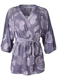Ghost with background  view Lace Detail Robe