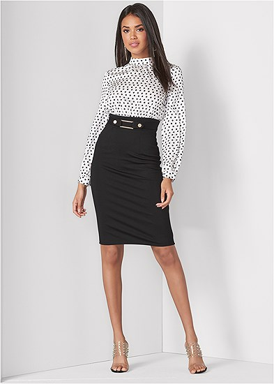 Polka Dot Twofer Dress