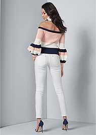 Full back view Off Shoulder Sweater