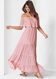 Full front view Tiered Maxi Dress