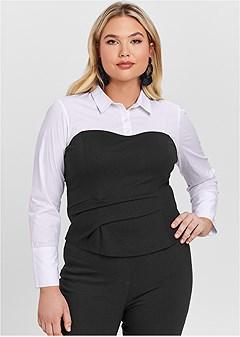 plus size twofer blouse