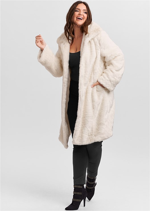 Plus Size Faux Fur Coat by Venus