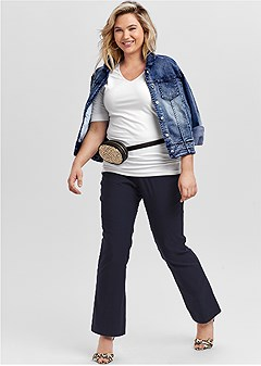 plus size slimming pull on pants
