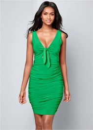 Front View Tie Detail Bodycon Dress
