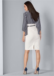 Alternate View Twofer Collared Midi Dress