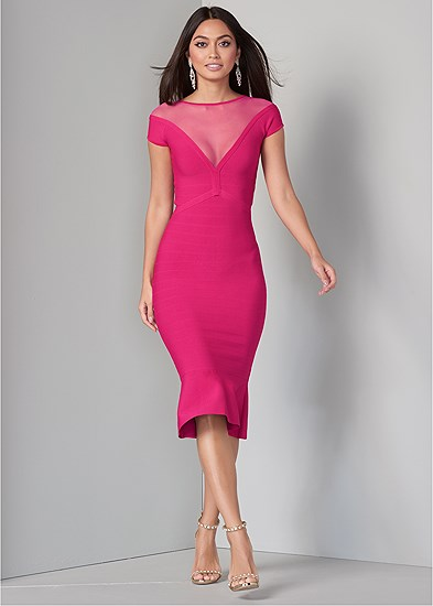 bandage peplum dress