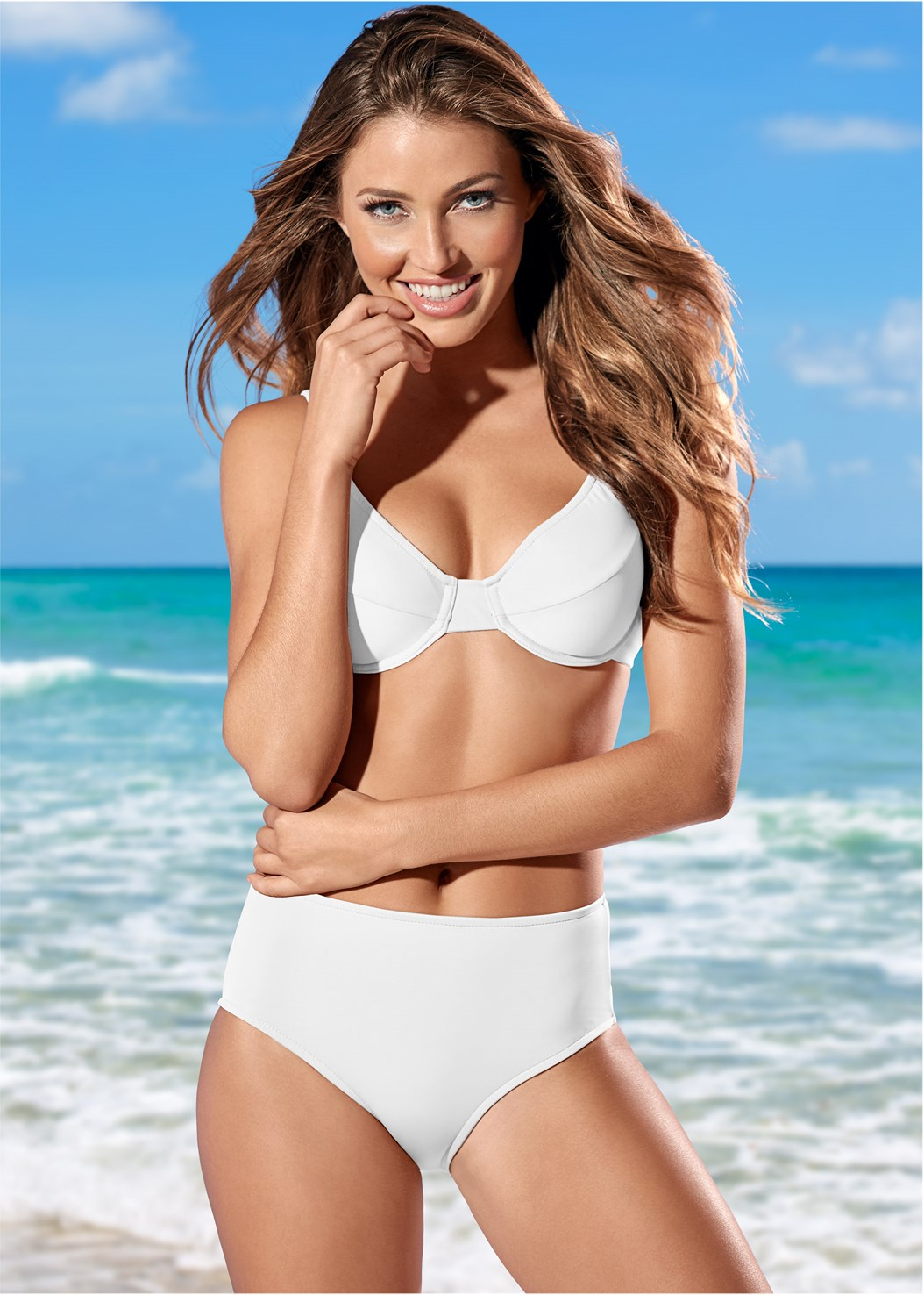 Full Coverage Mid Rise Hipster Bikini Bottom,Full Coverage Bra Top,High Waist Full Cut Bottom