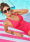 Full back view Smoothing V-Back Tankini Top